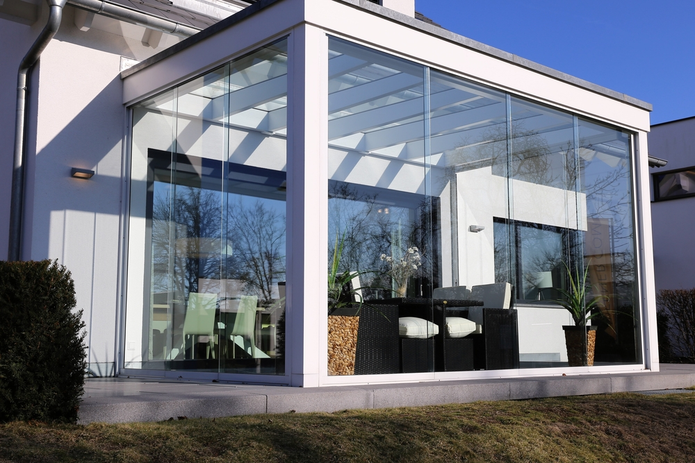 moderner Wintergarten - puristisches Design